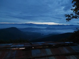 Morgenlyset over Sri Lanka highland